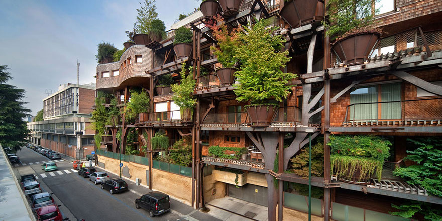 Urban Treehouse Uses 150 Trees To Protect Residents From Noise And Pollution 4