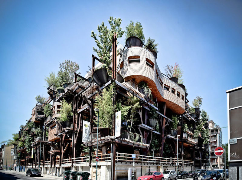 Urban Treehouse Uses 150 Trees To Protect Residents From Noise And Pollution 17