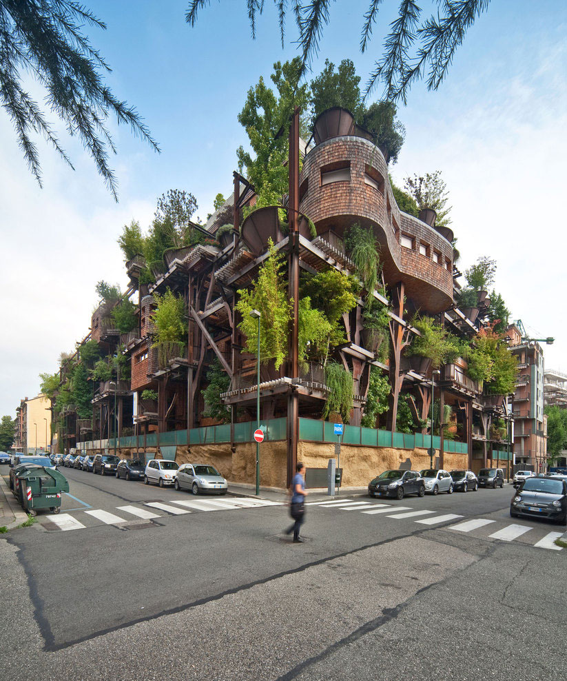 Urban Treehouse Uses 150 Trees To Protect Residents From Noise And Pollution 18