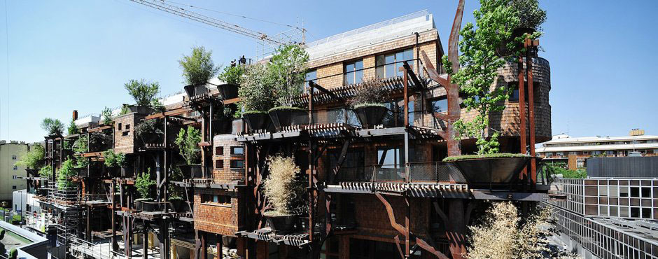 Urban Treehouse Uses 150 Trees To Protect Residents From Noise And Pollution 21