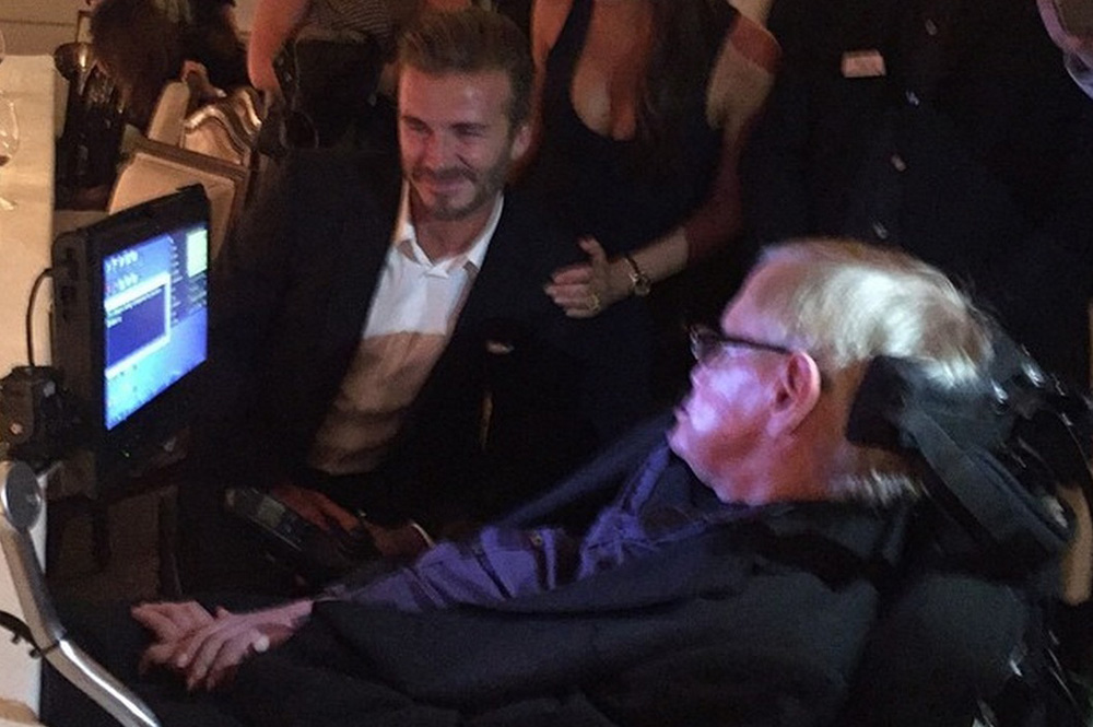 David Beckham Meets Professor Stephen Hawking at Google's Event 1
