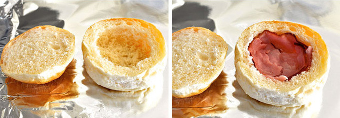 Hate Washing Dishes? Ham, Egg And Cheese Bread Bowls 3