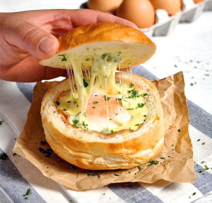 最適合洗碗恐懼症患者的懶人菜餚:火腿芝士蛋麵包盅 2