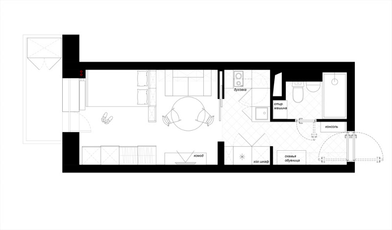 A day magazine - Four small apartments undersquare meters ...