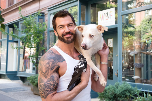 Handsome Men Pose With Their Rescued Pets, Help Animals Get Adopted 12