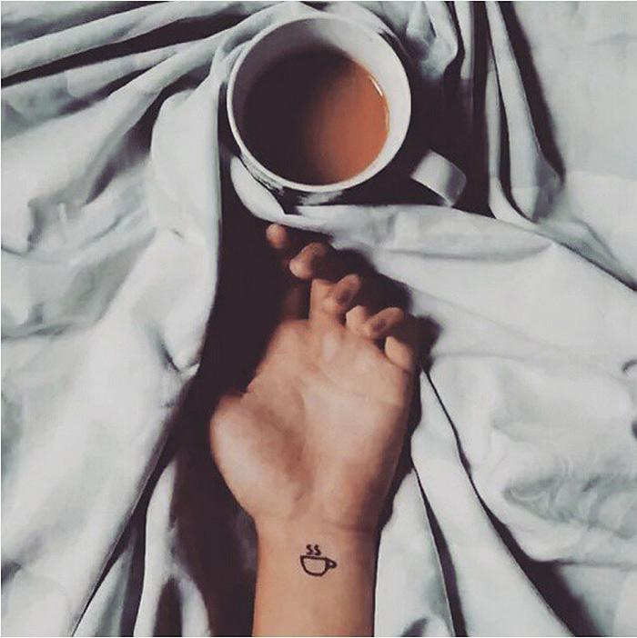 Tiny  Tattoo Ideas That Foodie Will Love 3