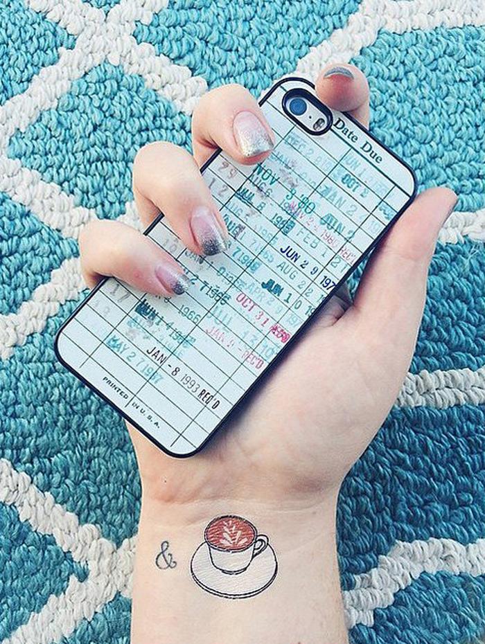 Tiny  Tattoo Ideas That Foodie Will Love 13