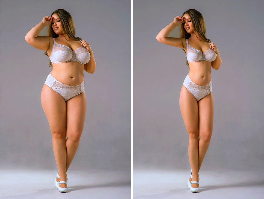 This problematic online group is Photoshopping famously body positive celebrities to look thinner 5