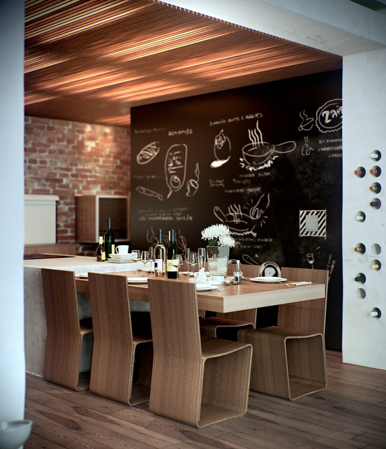 Home Design Ideas 2015: Home Decor Ideas : 想悠閒中帶一點復古?也許你家正是少了這樣一塊黑板 ‧ A Day Magazine