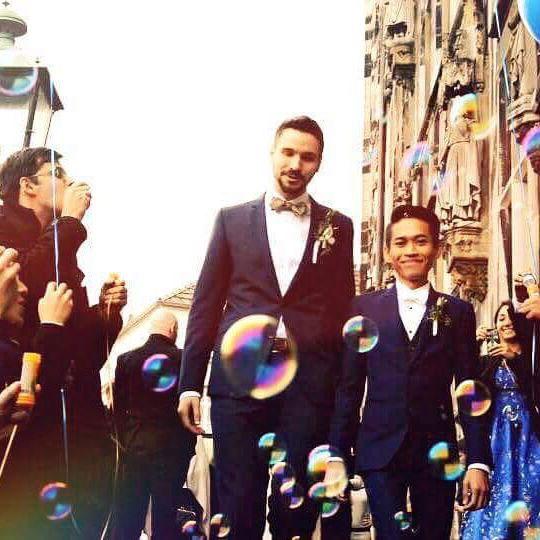 Love Wins : 不受他人批評!同志情侶 Noparuj & Thorsten 德國浪漫結婚 5