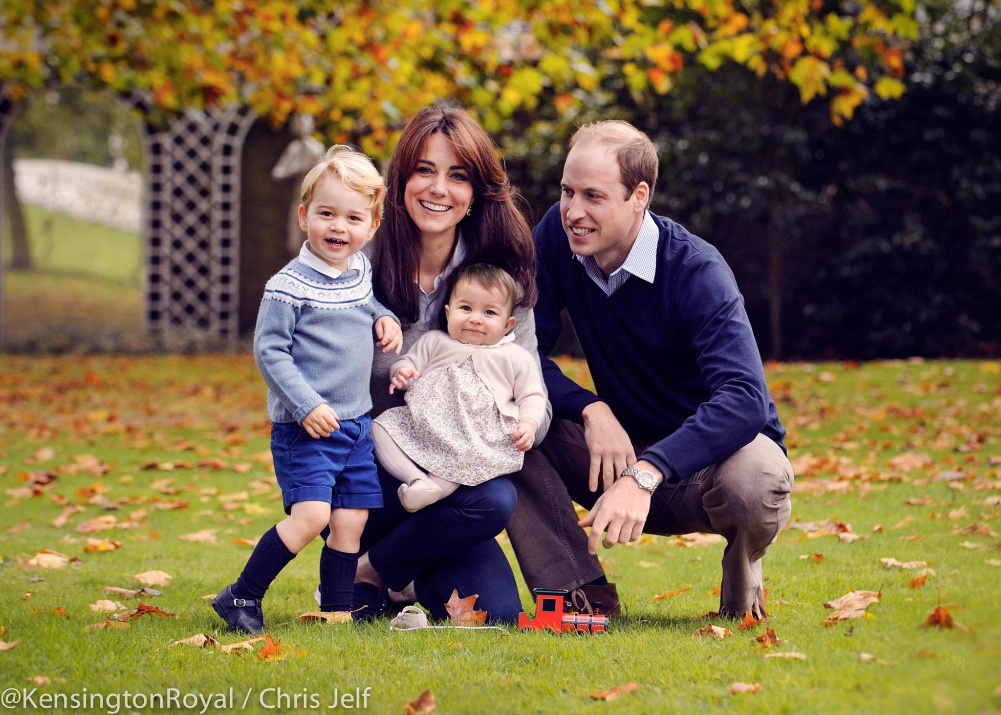 來自英國皇室的祝福:一家四口迎接小公主 Charlotte 的第 1 個快樂聖誕 9