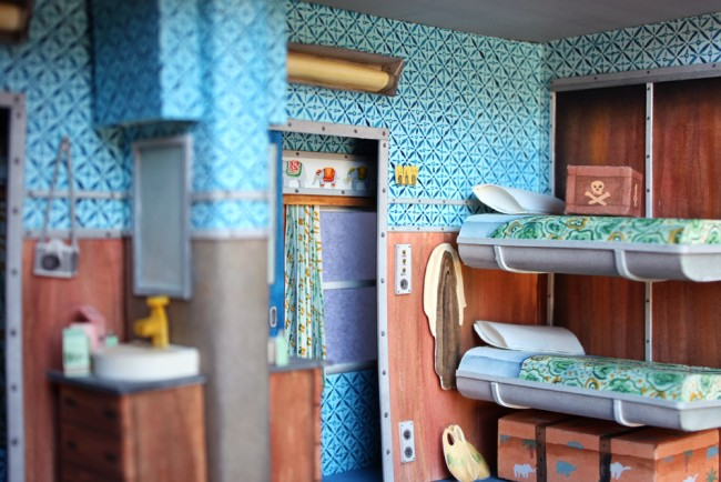 藝術家 Mar Cerdà 以紙工藝和水彩畫,打造 Wes Anderson 的電影場景 2