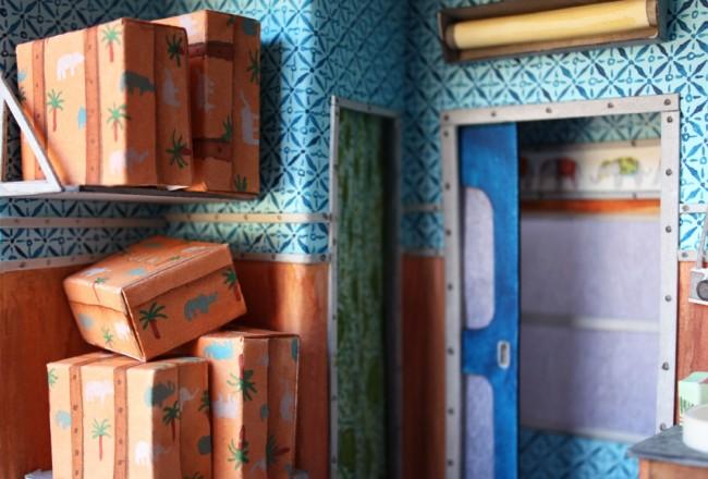 藝術家 Mar Cerdà 以紙工藝和水彩畫,打造 Wes Anderson 的電影場景 5