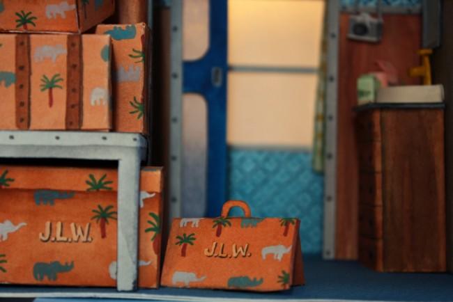藝術家 Mar Cerdà 以紙工藝和水彩畫,打造 Wes Anderson 的電影場景 6