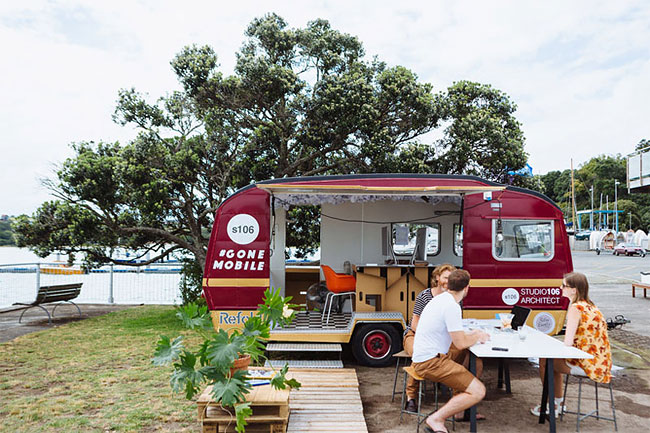 These Architects Wanted To Work Outside, So They Made A Mobile Office In A Caravan 1