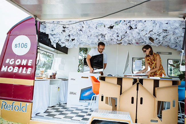 These Architects Wanted To Work Outside, So They Made A Mobile Office In A Caravan 5