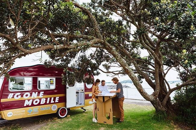 These Architects Wanted To Work Outside, So They Made A Mobile Office In A Caravan 9