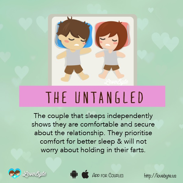 Different Types Of Sleeping Positions That Couples Tend To Doze Off In 3
