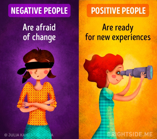 Here's the real difference between a negative and a positive attitude to life 10