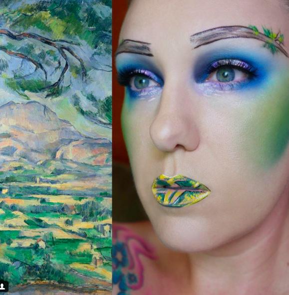 makeup as famous paints 4
