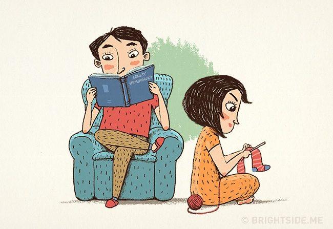 一輩子的感情是日常中的細膩經營,9張插圖道出恩愛夫妻才懂的相處之道 3