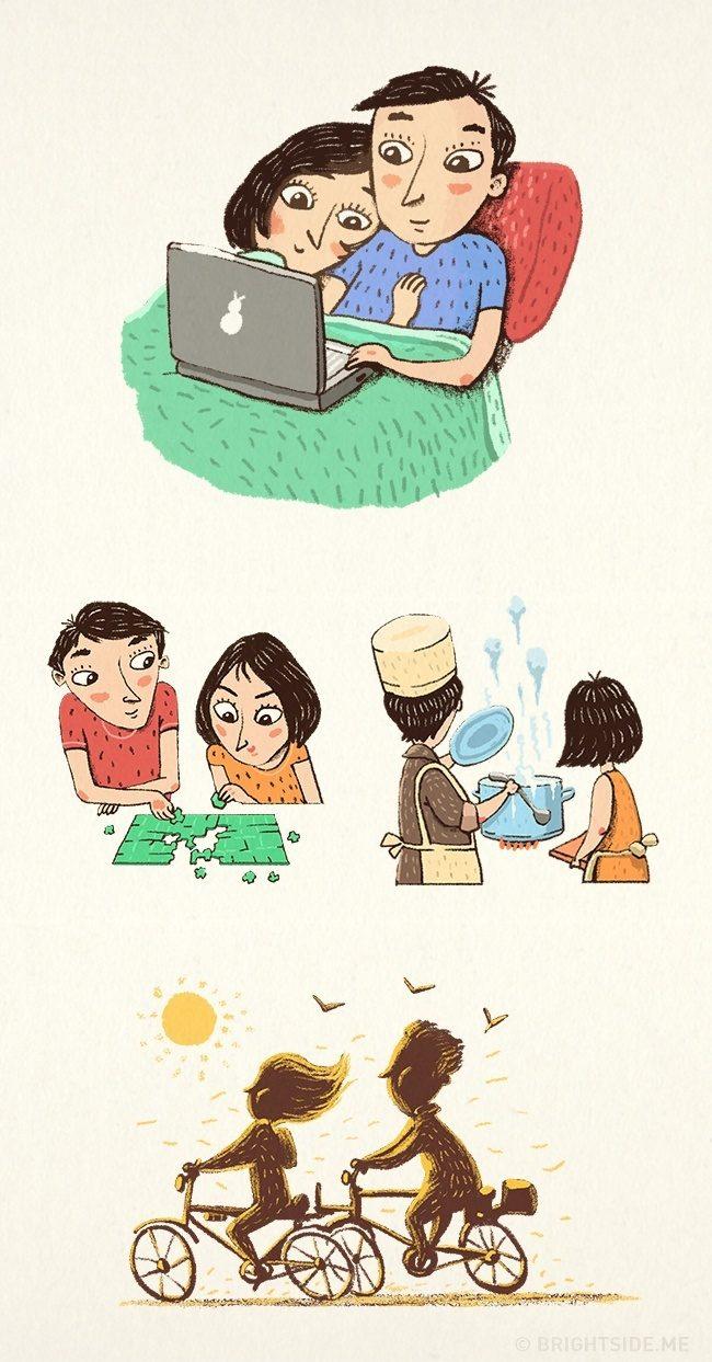 一輩子的感情是日常中的細膩經營,9張插圖道出恩愛夫妻才懂的相處之道 4