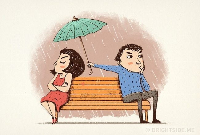 一輩子的感情是日常中的細膩經營,9張插圖道出恩愛夫妻才懂的相處之道 7