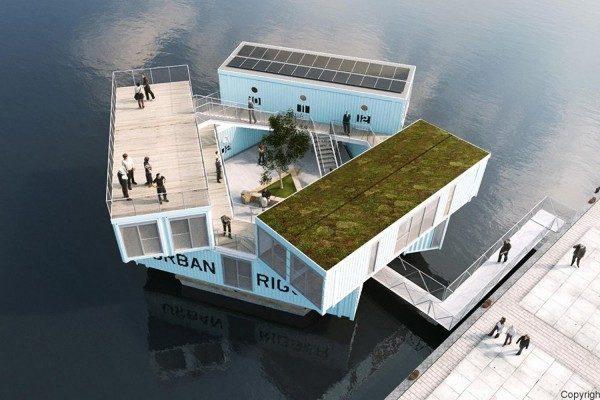 哥本哈根的夢幻學生宿舍,讓你像是渡假般住在水上小屋