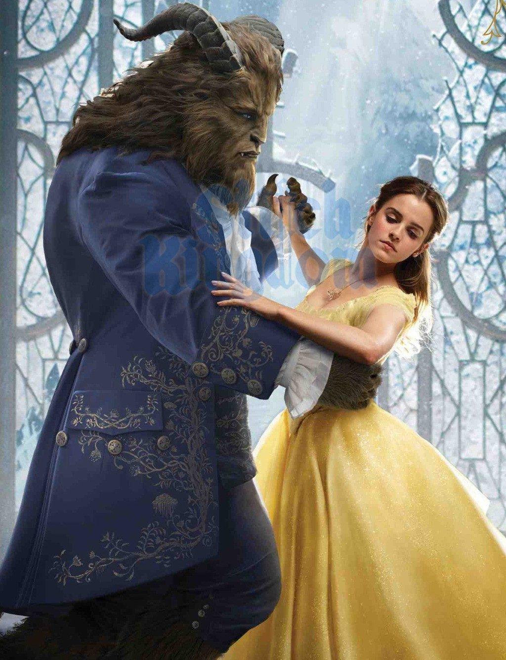 迪士尼經典動畫《美女與野獸》最新劇照:Emma Watson 100%還原貝兒一角