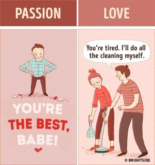 是愛情還是激情?透過10張插圖檢視你們之間的感情差異