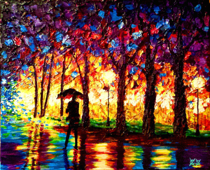 Colors in Darkness:盲人藝術家靠著觸摸和紋理創造驚人而生動的彩色畫作 1