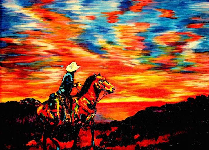 Colors in Darkness:盲人藝術家靠著觸摸和紋理創造驚人而生動的彩色畫作 2
