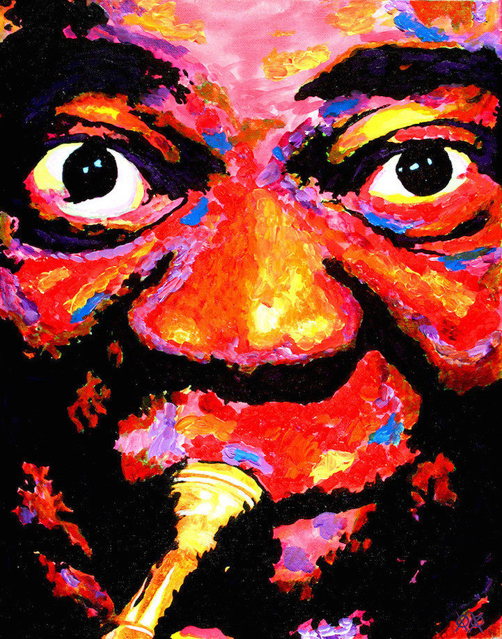 Colors in Darkness:盲人藝術家靠著觸摸和紋理創造驚人而生動的彩色畫作 3