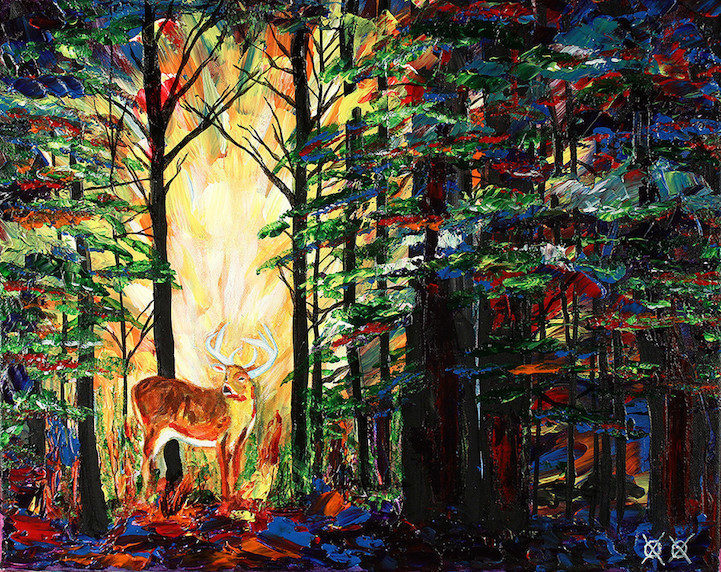Colors in Darkness:盲人藝術家靠著觸摸和紋理創造驚人而生動的彩色畫作 5