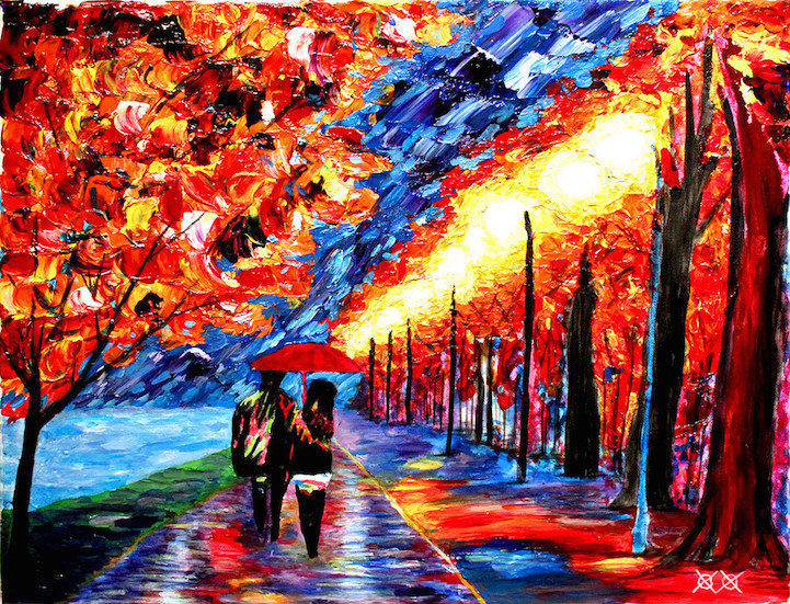 Colors in Darkness:盲人藝術家靠著觸摸和紋理創造驚人而生動的彩色畫作 7