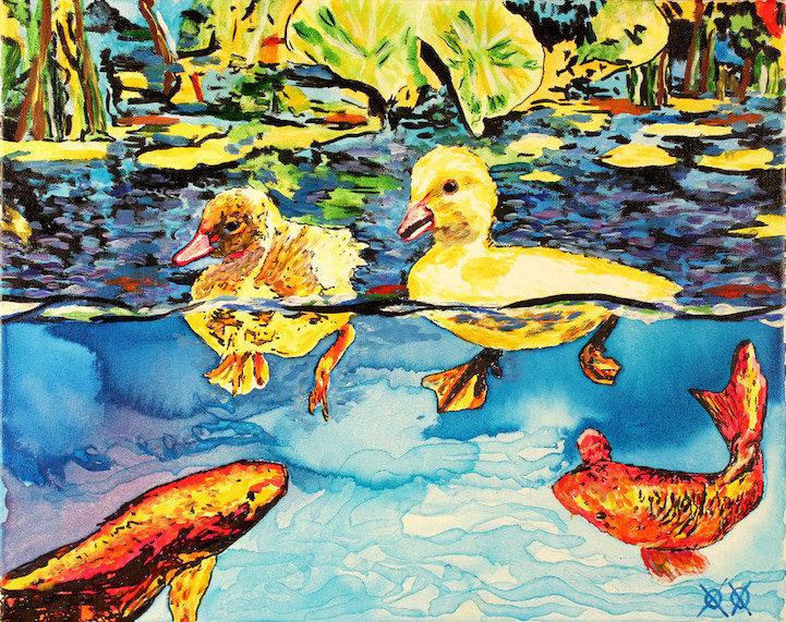 Colors in Darkness:盲人藝術家靠著觸摸和紋理創造驚人而生動的彩色畫作 10