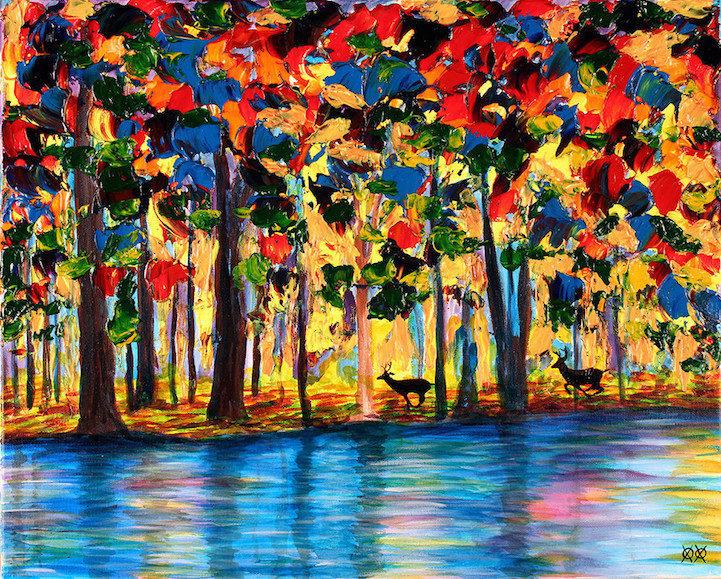 Colors in Darkness:盲人藝術家靠著觸摸和紋理創造驚人而生動的彩色畫作 11