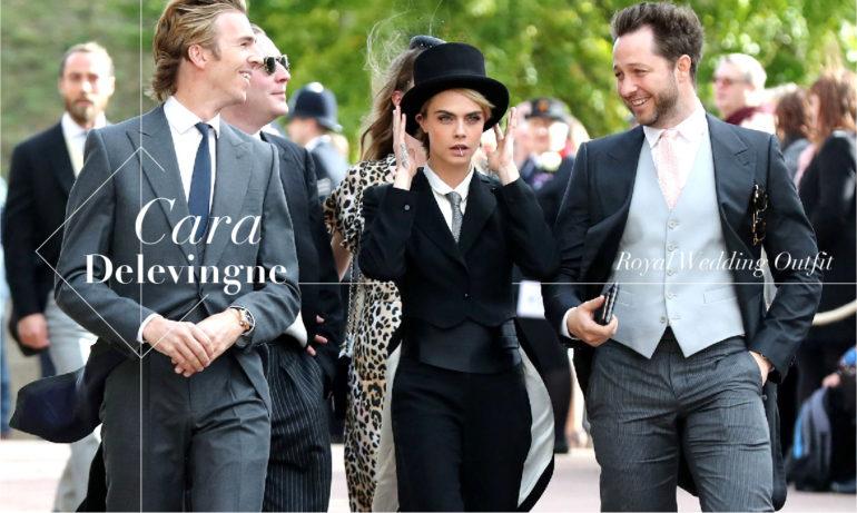 犯险挑战王室婚礼的服装要求,Cara Delevinge再次展现佻皮个性