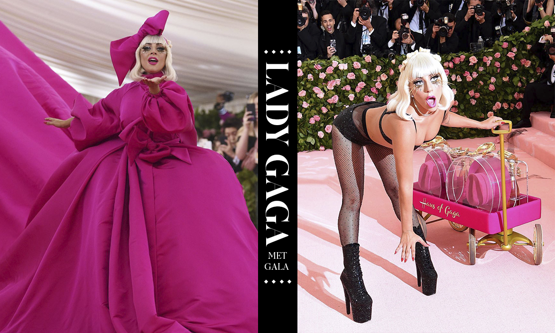 一連帶來四套造型:Lady Gaga 霸佔 Met Gala 紅毯,讓「惡魔總編」表情大變